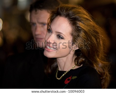 Angelina Jolie at the european premiere of 'Beowulf' at the Vue cinema on November 11, 2007, London, England. - stock photo