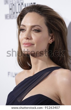 """Angelina Jolie at the """"In The Land Of Blood And Honey"""" Los Angeles Premiere, ArcLight Cinemas, Hollywood, CA 12-08-11 - stock photo"""