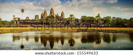 Angkor panoramic - stock photo