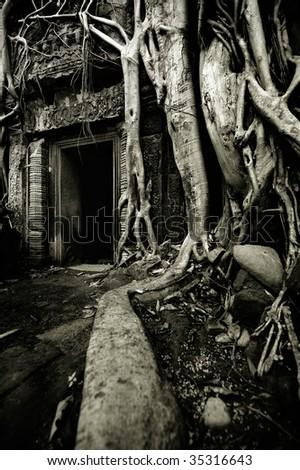 Angkor Thom Cambodia - stock photo