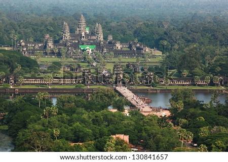 Angkor Wat in Cambodia - stock photo