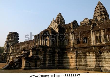 Angkor Wat main temple - stock photo