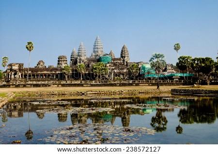 Angkor Wat -Siem Reap - Cambodia - stock photo