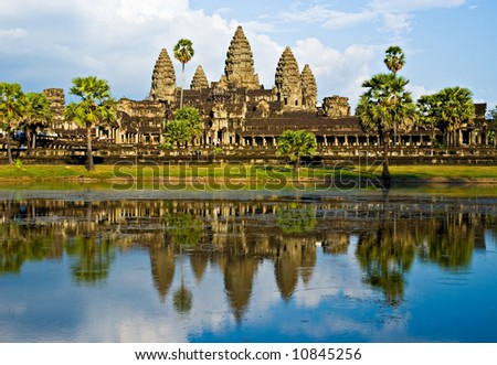 Angkor Wat Temple before sunset, Siem Reap, Cambodia. - stock photo