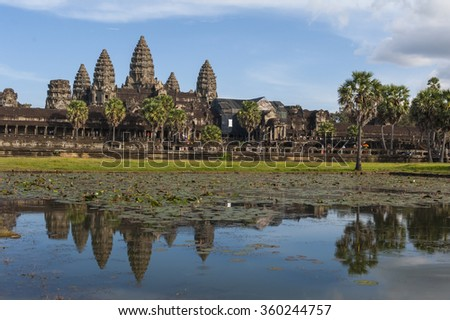 Angkor Wat Temple in Siem Reap Cambodia - stock photo