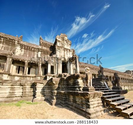 Angkor Wat Temple, Siem reap, Cambodia - stock photo