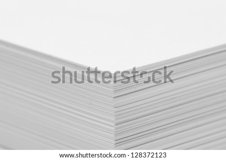 Angle several white papers suitable for use - stock photo