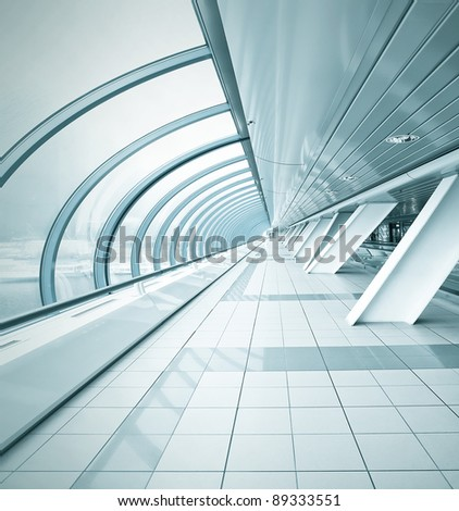 angle view to underpass - stock photo