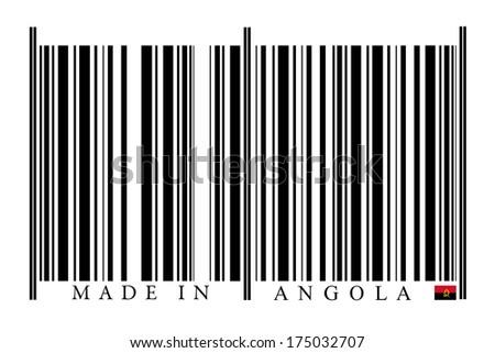 Angola Barcode on white background - stock photo