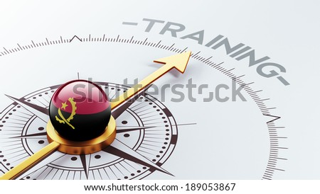 Angola High Resolution Training Concept - stock photo