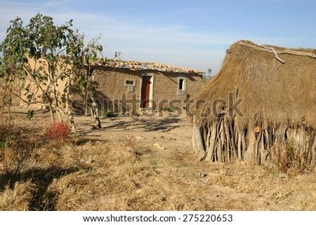Angola village - stock photo