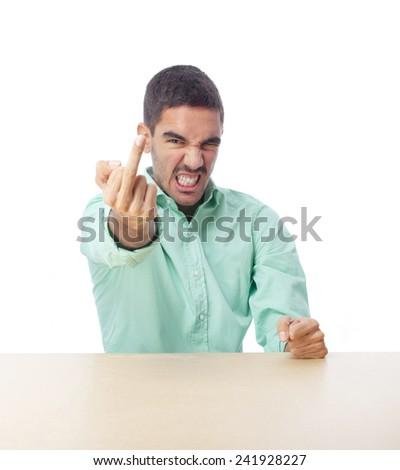 Angry boy - stock photo