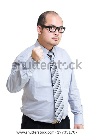Angry business man - stock photo