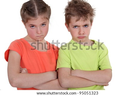 Angry Children - stock photo