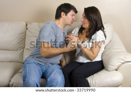 Angry couple - stock photo