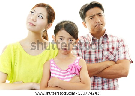 Angry family - stock photo