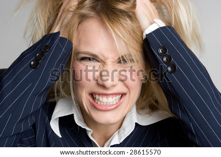 Angry Frustrated Woman - stock photo