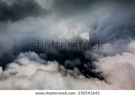 Angry Looking Storm Cloud. Storm cloud background. - stock ...
