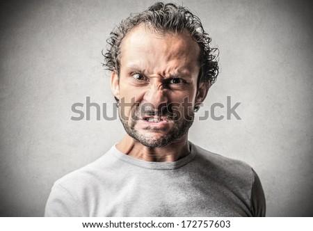 angry man - stock photo