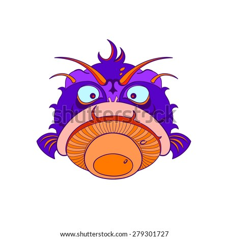 Angry porcupine fish swelled. - stock photo
