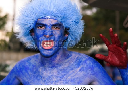 Angry Sports Fan - stock photo
