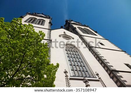 anicent St.Aegidien City Church Oschatz, Saxony, Germany - stock photo