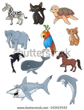 animal collection - stock photo