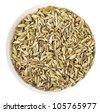 Anise (Pimpinella anisum) on white - stock photo