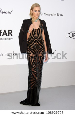 Anja Rubik arriving for AmfAR's Cinema Against Aids gala 2012 during the 65th annual Cannes Film Festival Cannes, France - 24.05.12 Henry Harris - stock photo