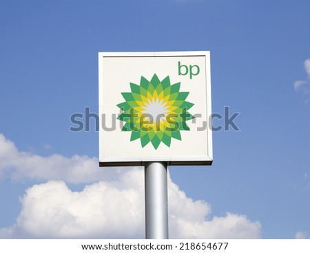 Ankara - JUNE 21: british petrol on June 21,2014 in Turkey. British Petroleum is a British multinational oil and gas company headquartered in London, England. - stock photo