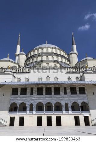 Ankara, Kocatepe Mosque - the largest mosque of capital city - stock photo