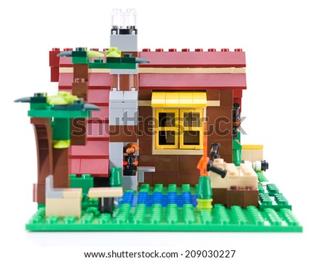 Ankara, Turkey - July 04, 2012: Lego Creator - House is a 3 in 1 countryside houses isolated on white background - stock photo