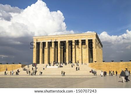 Ankara, Turkey - Mausoleum of Ataturk, Mustafa Kemal Ataturk - stock photo