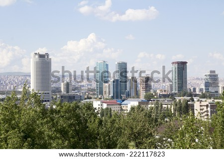 ANKARA, TURKEY - MAY 31: city of Ankara, Ankara is the capital city of Turkey on 31 MAY 2014, Ankara , it is the second most crowded city of Turkey,  - stock photo