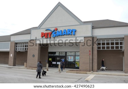 ANN ARBOR, MI - JANUARY 30: Pet Smart, whose south Ann Arbor, MI store is shown January 30, 2016, has over 1,300 locations.  - stock photo