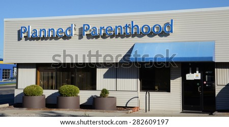 ANN ARBOR, MI - SEPTEMBER 7: Planned Parenthood, whose Ann Arbor location is shown on September 7, 2014, operates 820 health centers in the US. - stock photo