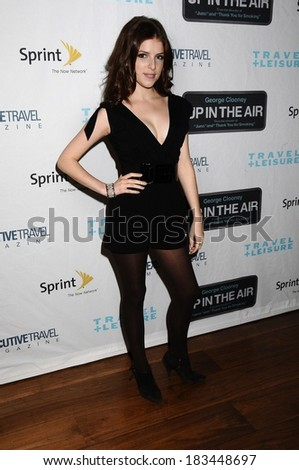 Anna Kendrick at Travel & Leisure Special Screening of UP IN THE AIR, The Paris Theatre, New York, NY November 5, 2009  - stock photo