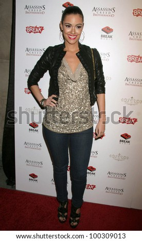 "Annabelle Costa at the ""Assassin's Creed Brotherhood"" World Launch Party, Premiere, Hollywood, CA. 11-15-10 - stock photo"
