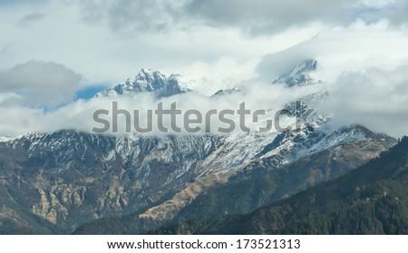 Annapurna rang in Nepal Himalaya  - stock photo