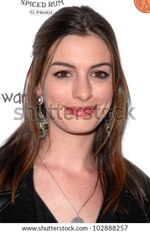 """Anne Hathaway  at the """"Breaking Upwards"""" L.A. Premiere, Silent Movie Theater, Los Angeles, CA. 04-08-10 - stock photo"""