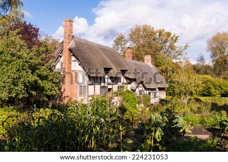 Anne Hathaway's Cottage England - stock photo