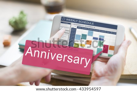 Anniversary Annual Celebration Remember Yearly Concept - stock photo