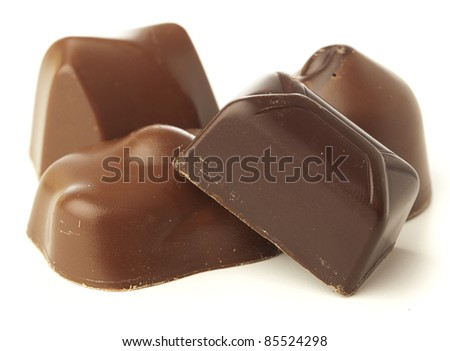 anniversary chocolate isolated on a white background - stock photo