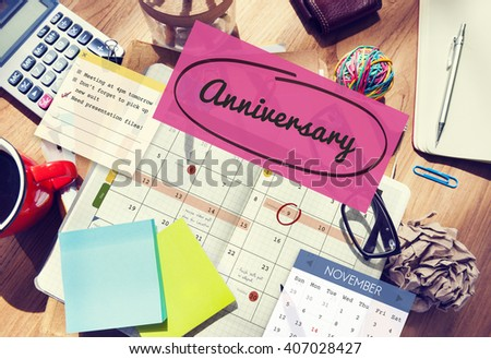 Anniversary Event Appointment Planner Calendar Concept - stock photo