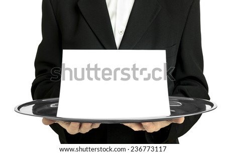 Announcement blank card - stock photo