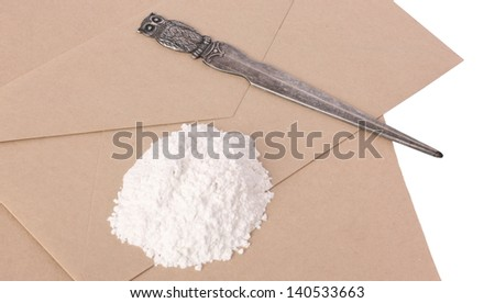 Anonymous Ricin Letter - stock photo