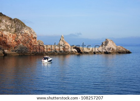 Anstey's Cove, Torquay - stock photo
