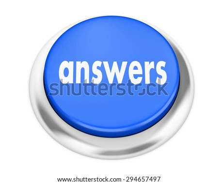 answers button on isolate white background - stock photo