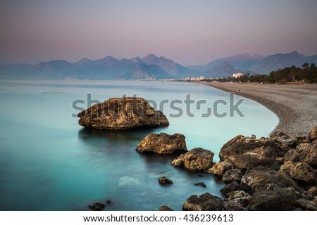 Antalya, Turkey: Beach and Coast - stock photo