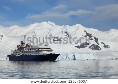 Antarctic Cruising - stock photo